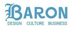 Baron magazine logo.